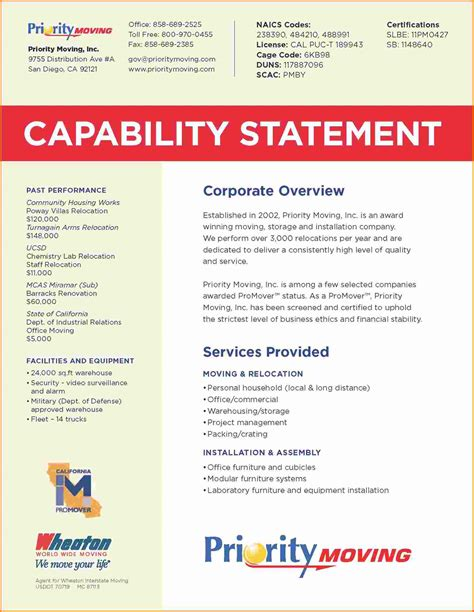 8 capability statement template cashier resume