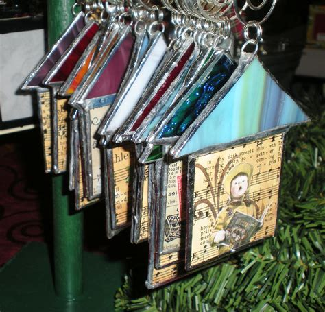 stained glass house ornaments ready   ha designs