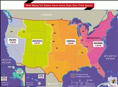 Zones Map States Zone Than United Many