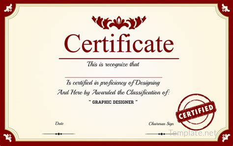 certificate template  adobe illustrator