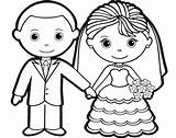 Groom Bride Coloring Pages Colouring Sheet Hello Kitty Template Romantic Children Sheets Wedding Charming Doghousemusic Preschool Winter sketch template