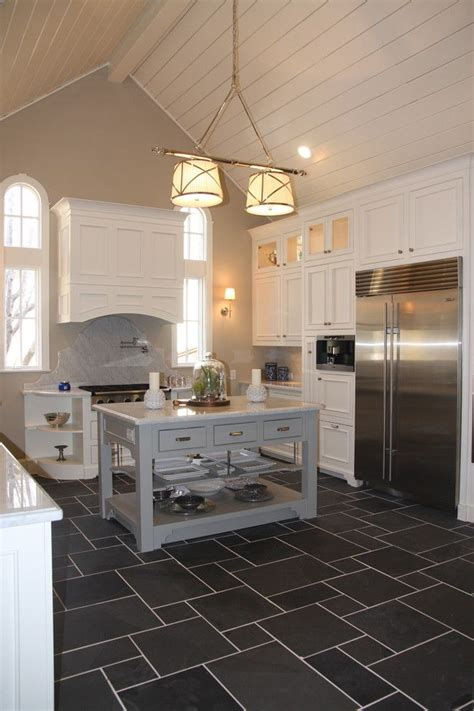 white cabinets tile floor charcoal tile floor with white cabinets kitchen 349 | 8887d9338081c15a99e33e7c2c55cbe3