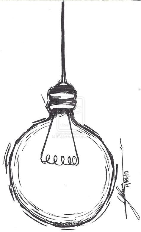simple light bulb drawing lamps ideas art