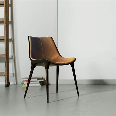 langham dining chair in leather bimma loft
