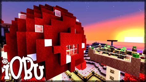 mushroom house base minecraft timelapse lets build   youtube