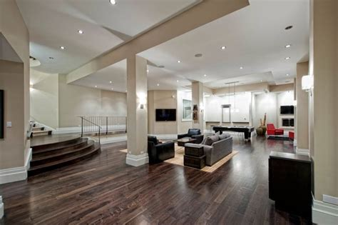 great finished basement design ideas for modern house contemporary basement