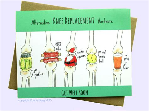 knee well funny replacement cards surgery card gifts humor soon recovery someone gift injury sayings etsy knows avoid need img0