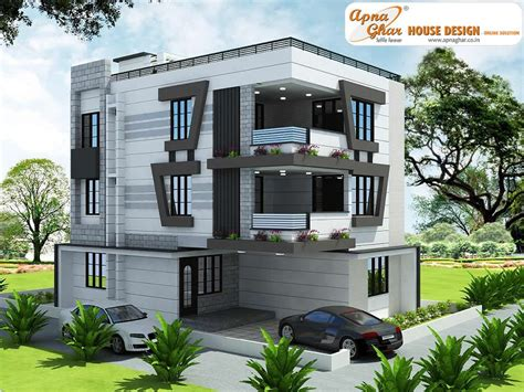 Modern House By Triplex Arquitetura by 5 Bedroom Modern Triplex 3 Floor House Design Area