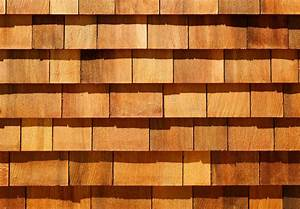 western red cedar wood shingles as wall siding stock image With peindre du red cedar