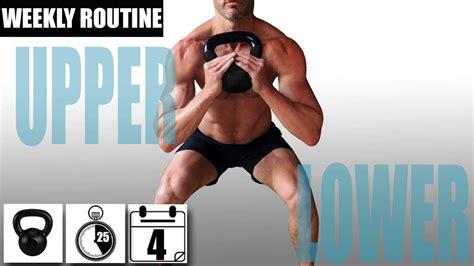 upper body lower split routine kettlebell beginner weekly