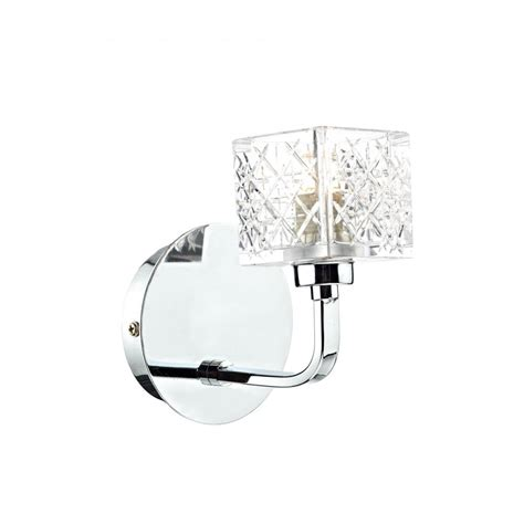 modern chrome and wall light with matching ceiling