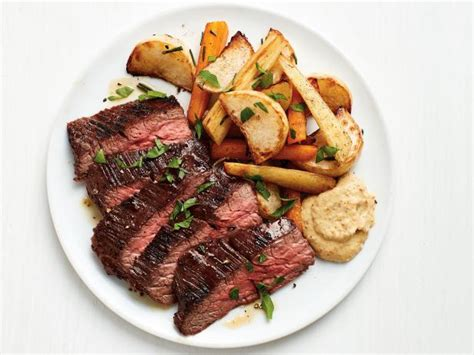 Flank Steak With Roasted Root Vegetables Recipe Food