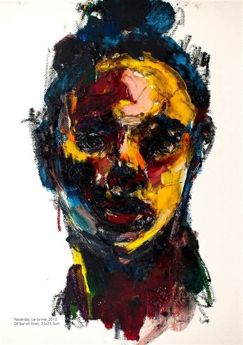 Abstract Black Portrait Painting by Abstract Portraits Paintings 010 Funcage