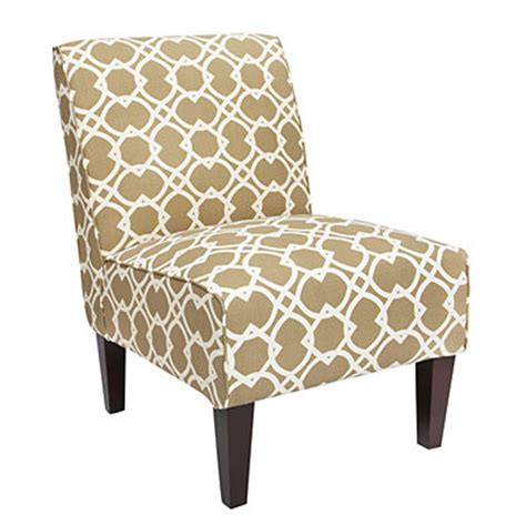 armless geometric print accent chairs big lots