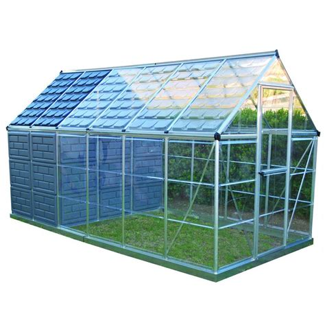 grow ls home depot palram grow and store 6 ft x 12 ft greenhouse 701950