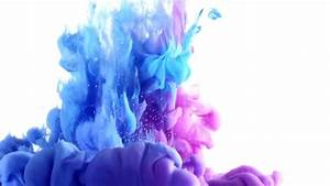 Colorful Ink Explosion On White Background. Ink Drops ...