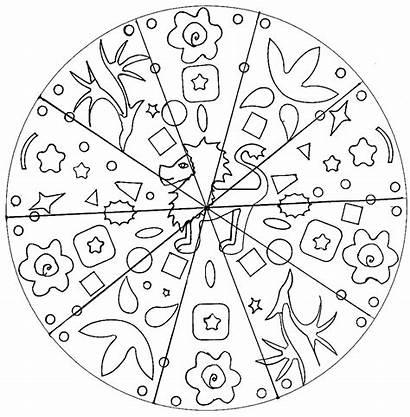 Mandala Lion Coloring Mandalas Easy Simple Adult