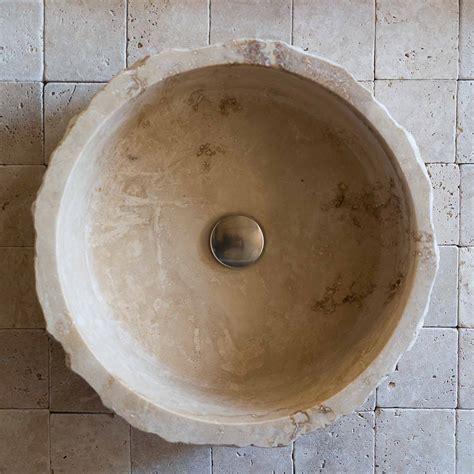 lavelli bagno da appoggio lavabo rustico in travertino quot roccia quot pietre di rapolano