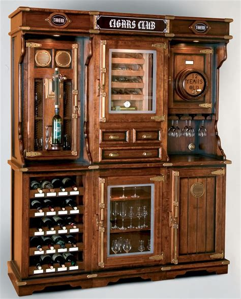 Unique Bar Furniture by Unique Cigar And Wine Cabinet With A Humidor In 2019