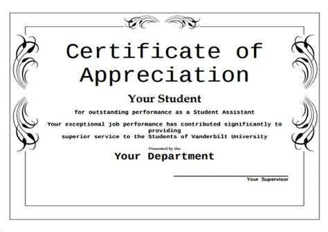 certificate  appreciation  students task list templates