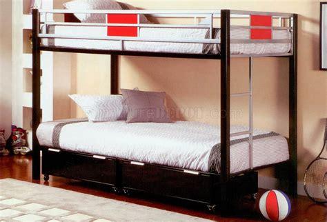 black metal base twin  twin modern bunk bed
