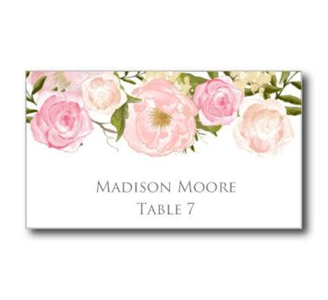 printable wedding place cards romantic floral wedding