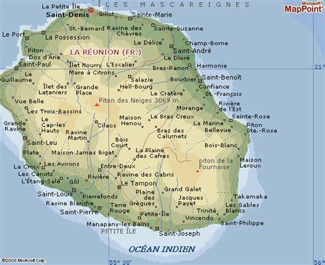 La Réunion Carte Géographique Monde by La R 233 Union Carte G 233 Ographique Voyages Cartes