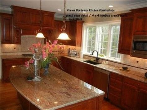travertine tile kitchen creama bordeaux granite counter top with tiles backsplash 2925
