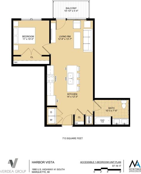 1 Bedroom Unit Layout by Unit Layouts The Residences At Harbor Vista High End