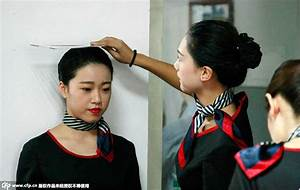College girls attend job interview for airline hostesses ...