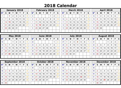 2018 Calendar Template Excel 2018 Weekly Calendar Template Excel Printable Templates