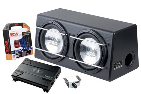 sub installation kit boss d125ap dual 12 inch bass system amplifier subwoofer in an enclosure installation kit 2000w