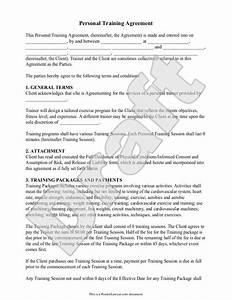 personal trainer forms personal training contract With apprenticeship contract template