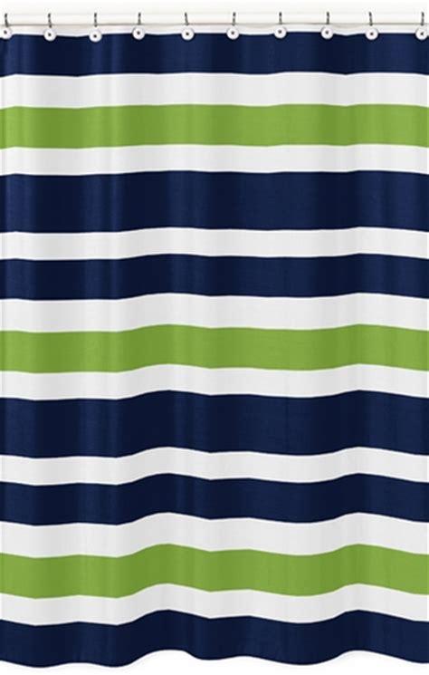navy blue shower curtain navy blue and lime green stripe bathroom fabric bath