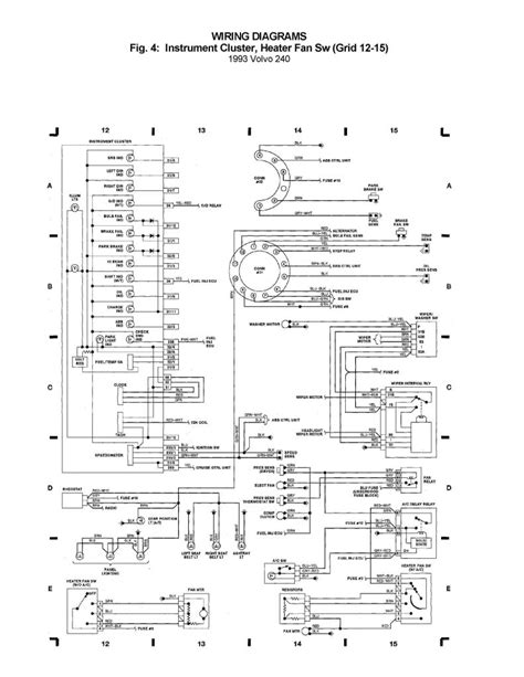 Volvo 240 (1993) - wiring diagrams - instrument cluster