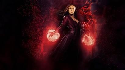 Witch Scarlet Wallpapers Wanda Maximoff Neon Escarlate