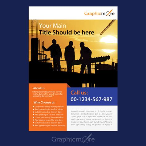 construction company flyer design  psd file