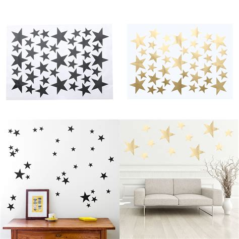 5722 wall decor for room diy 39pcs gold stickers home decor living room