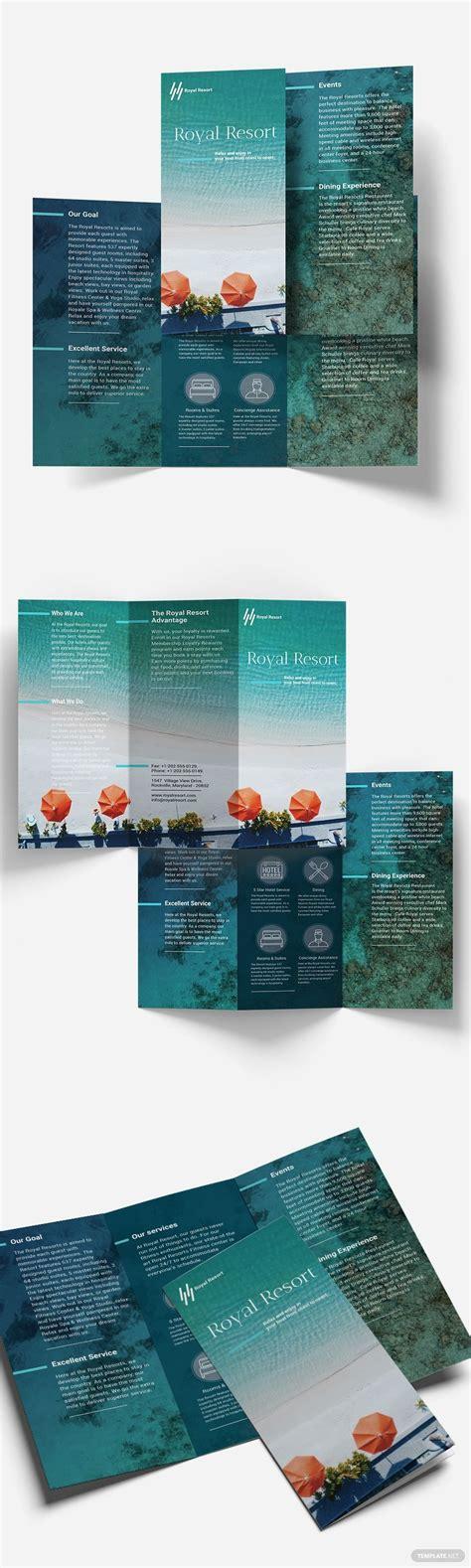 royal resort tri fold brochure template  publisher
