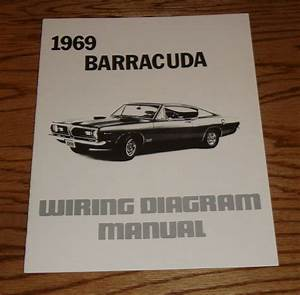 1969 Plymouth Barracuda Wiring Diagram Manual 69