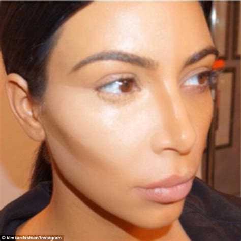 kim kardashian shares dramatic collage   contour