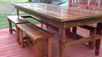 Rustic Farmhouse Table with Bench