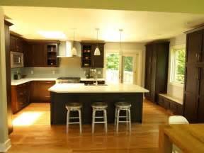 open kitchen island open concept oversized island transitional kitchen york by kraftmaster renovations