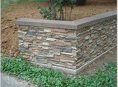 Landscape Retaining Walls Ideas with Faux Stone & Brick