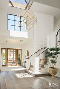 geometric, light, chandelier, entryway, with, staircase, and