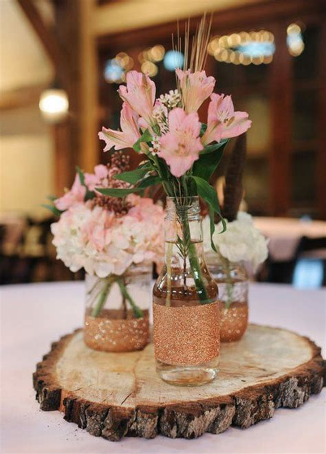 Rose gold centerpiece ideas 54 Inexpensive wedding