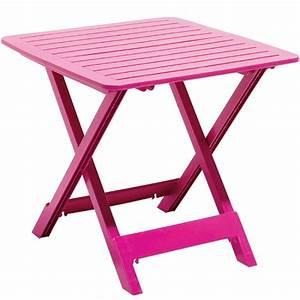 Table De Jardin 2 Personnes : table de jardin pliante 2 personnes rose fuchsia ~ Dailycaller-alerts.com Idées de Décoration