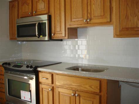 Clean And Simple Kitchen Backsplash White 3x6 Subway Tile