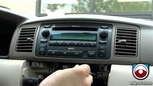 Radio Removal Toyota Corolla 2003 -2008