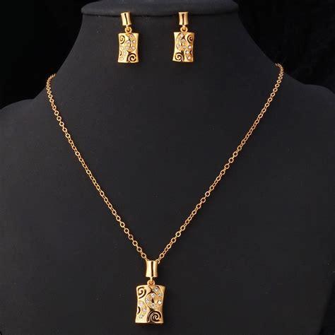 vintage jewelry set   platinumk real gold plated